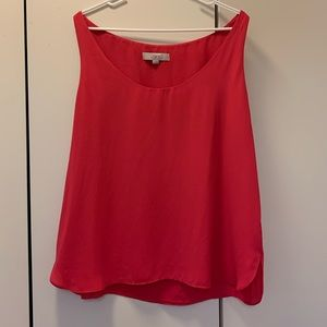 Sleeveless Pink Blouse-Loft- XL